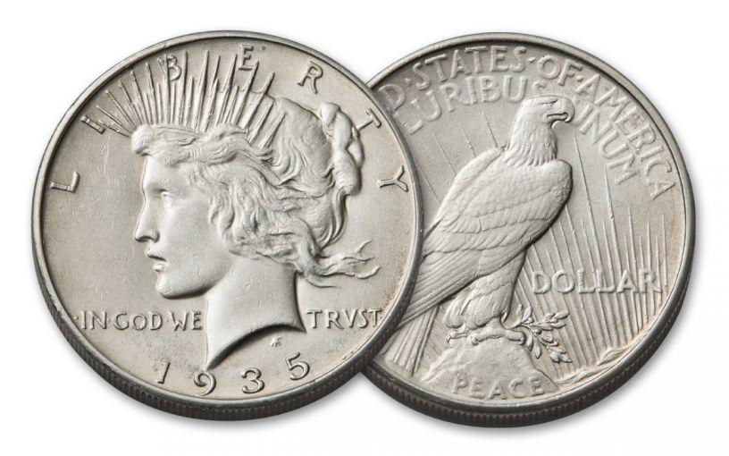 1935-P Peace Dollar AU