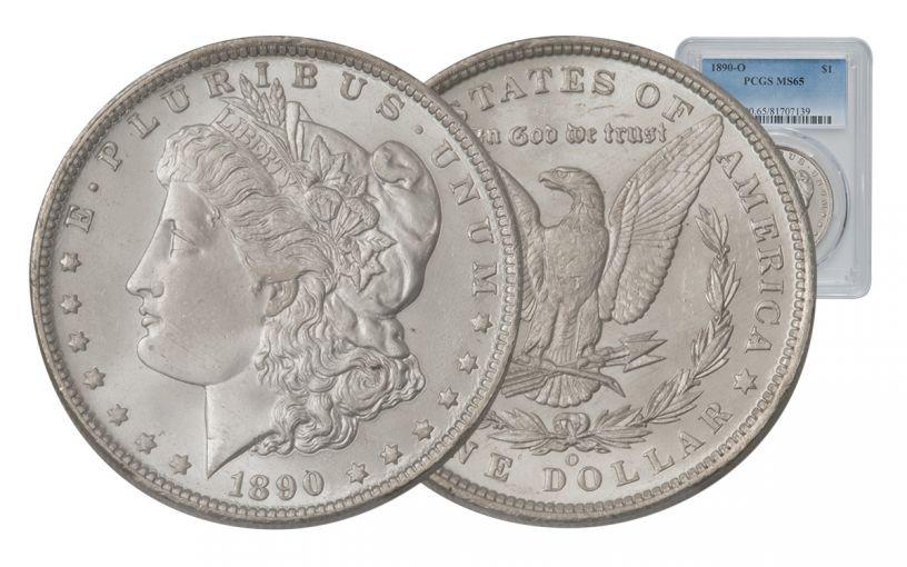 1890-O Morgan Silver Dollar PCGS MS65