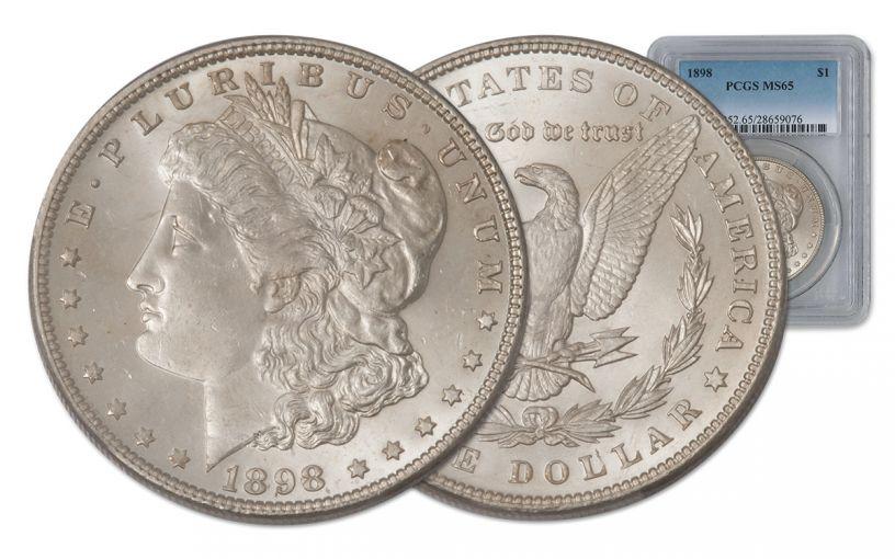 1898-P Morgan Silver Dollar PCGS MS65