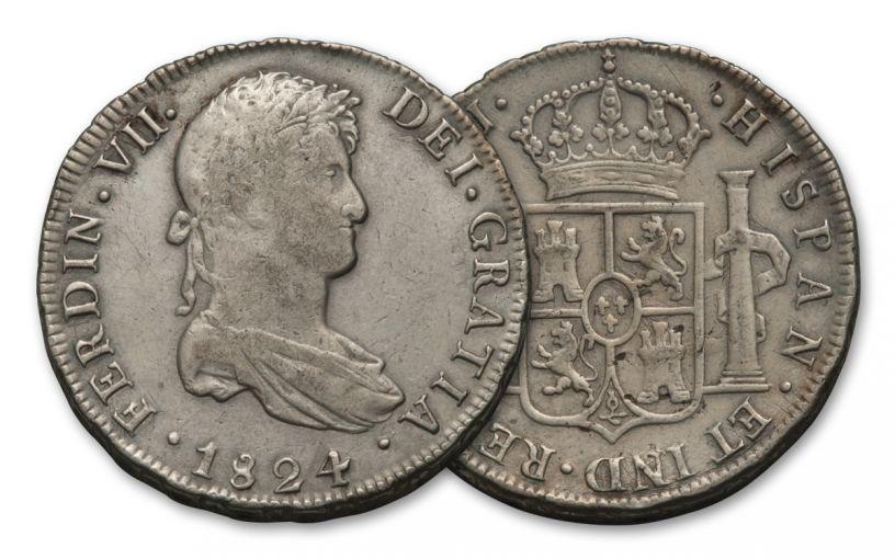 1772-1832 Spain 8 Reales XF