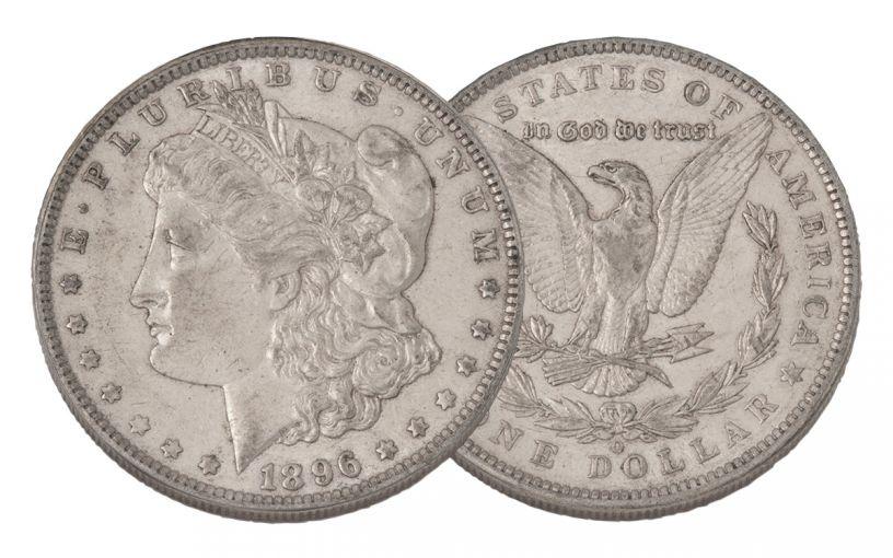1896-O Morgan Silver Dollar AU