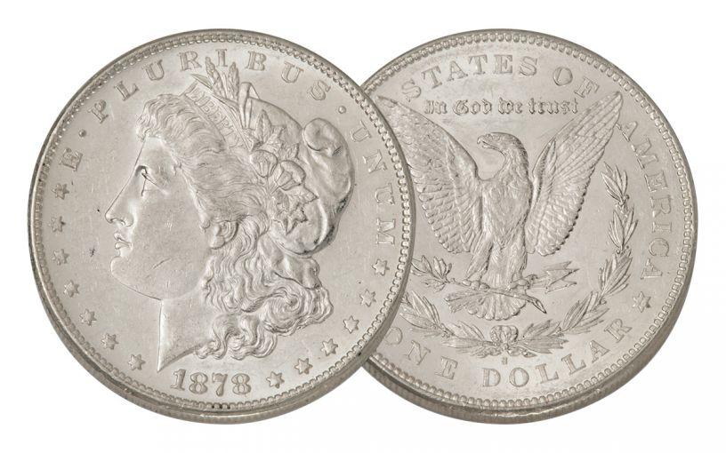1878-S Morgan Silver Dollar AU