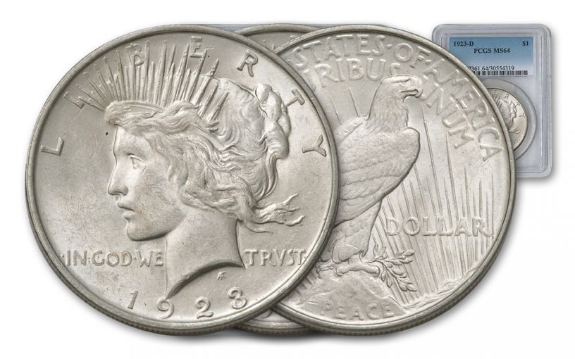 1923-D Peace Dollar PCGS MS64