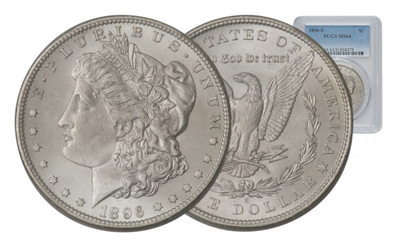 1896-S Morgan Silver Dollar PCGS MS64