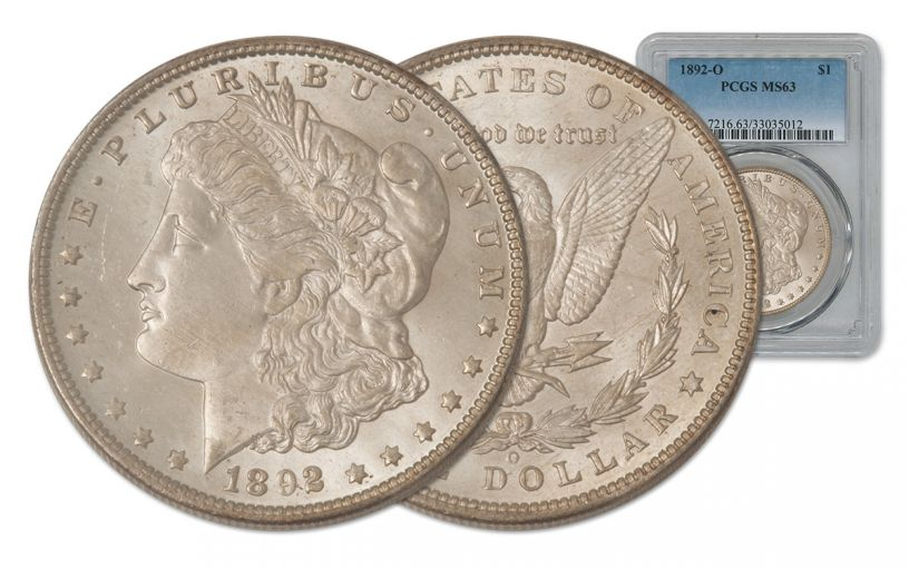 1892-O Morgan Silver Dollar PCGS MS63