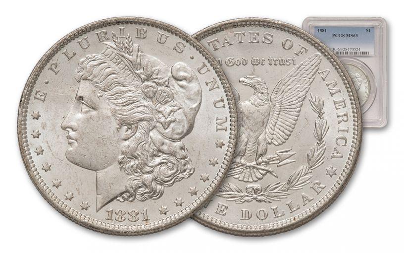 1881-P Morgan Silver Dollar PCGS MS63