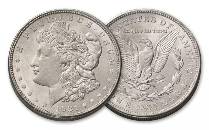 1921-D Morgan Silver Dollar AU