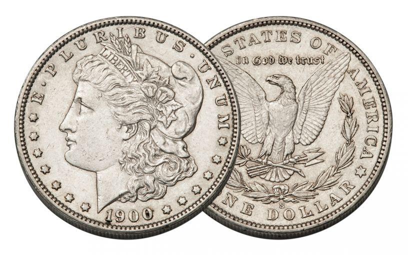 1900-S Morgan Silver Dollar AU