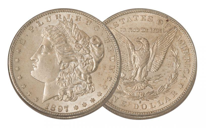 1897-S Morgan Silver Dollar AU