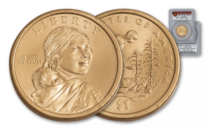 2010 Sacagawea Dollar Error PCGS MS67 Moy Signed