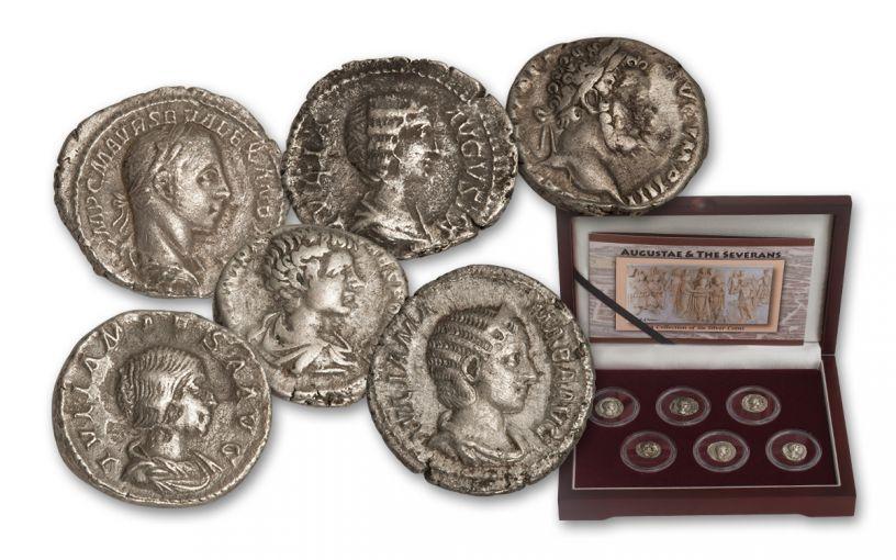 193-235 CE Silver Severan Set: Women of Rome 6 Pc Set
