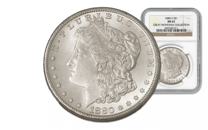 1880-S Morgan Silver Dollar NGC MS63 - Great Montana Collection