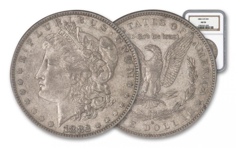1882-O/S Morgan Silver Dollar NGC AU50-53 – Great Montana Collection
