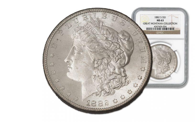 1882-S Morgan Silver Dollar NGC MS63 - Great Montana Collection
