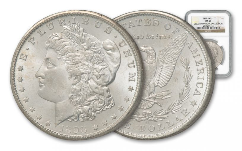 1898-O Morgan Silver Dollar NGC MS63 - Great Montana Collection