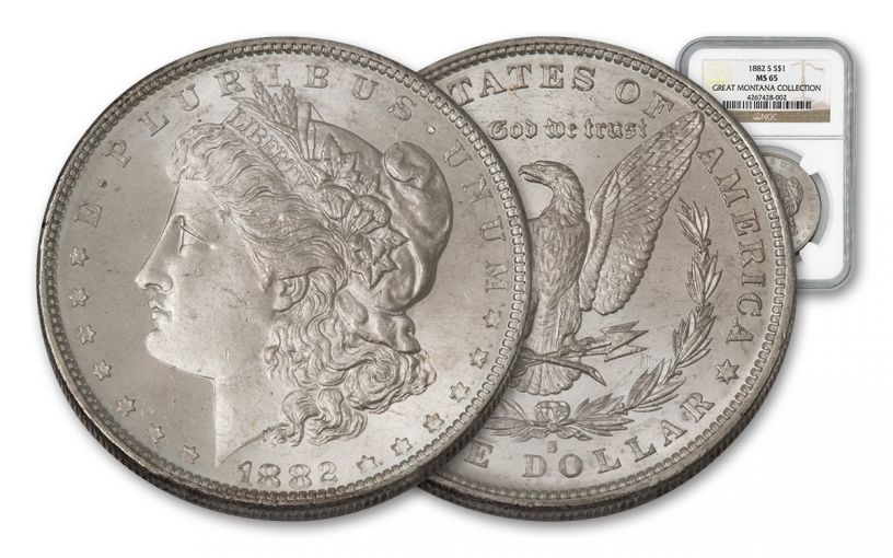 1882-S Morgan Silver Dollar NGC MS65 - Great Montana Collection
