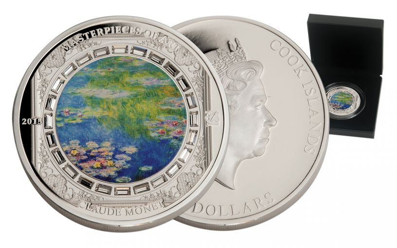 2015 Cook Island 3-oz Silver Water Lilies Proof