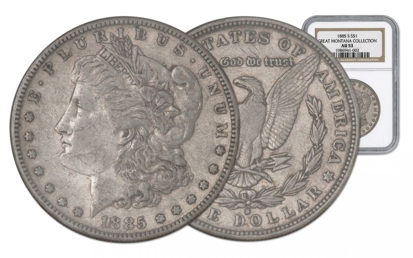 1885-S Morgan Silver Dollar NGC AU53 Great Montana Collection