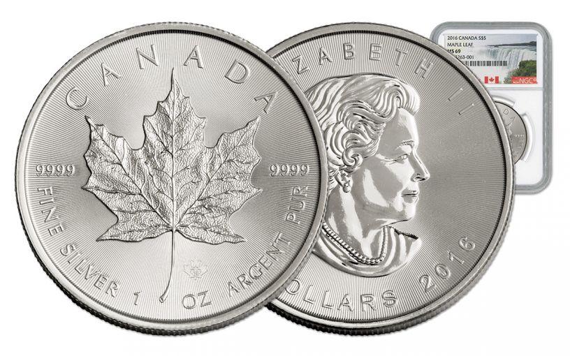 2016 Canada 5 Dollar 1-oz Silver Maple Leaf NGC MS69