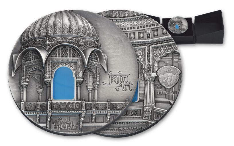 2016 Palau 10 Dollar Silver Tiffany Art Jain Antique