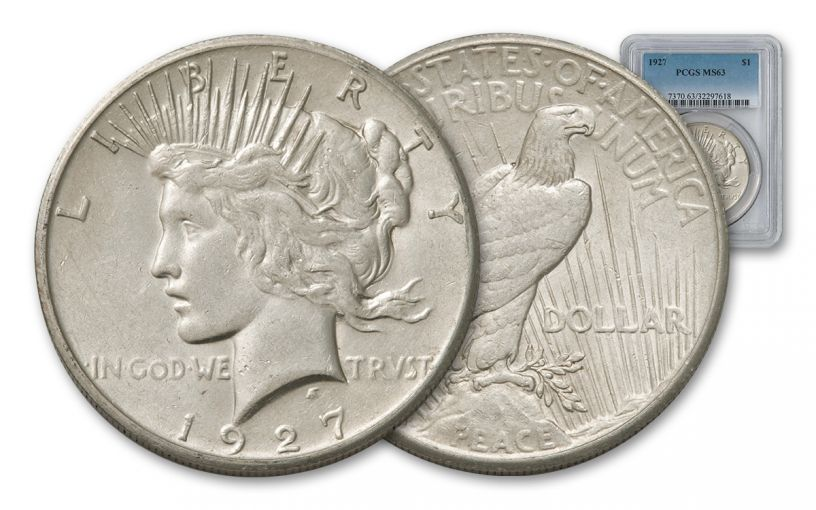 1927-P Peace Dollar PCGS MS63
