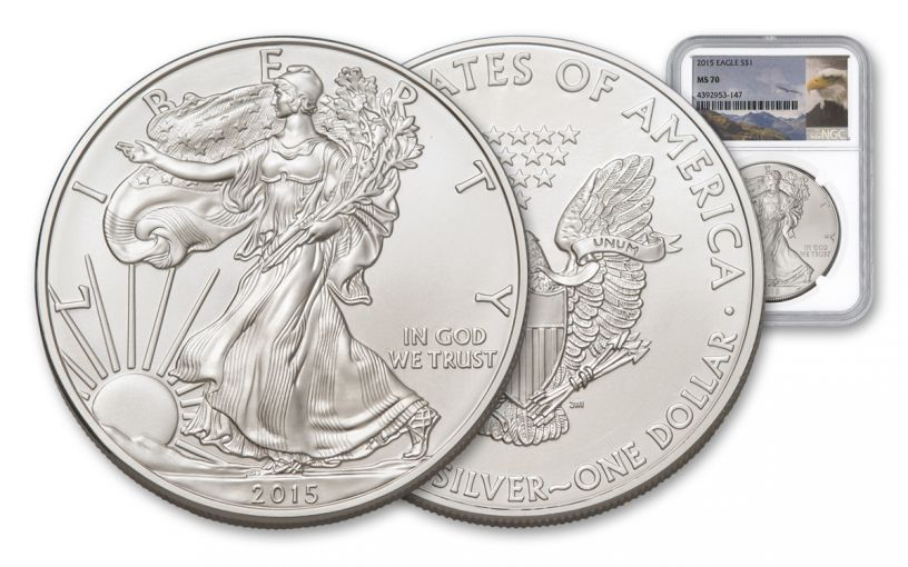 2015 1 Dollar 1-oz Silver Eagle NGC/PCGS MS70