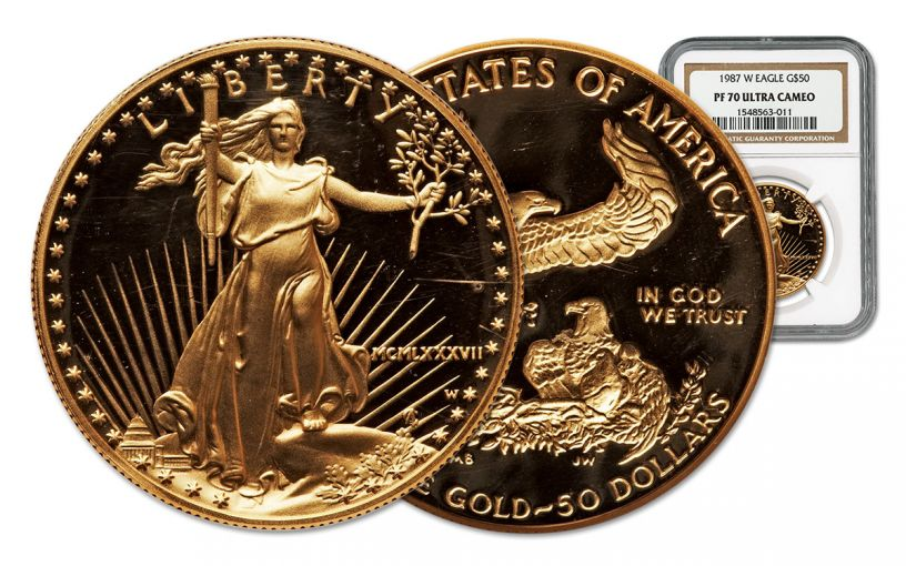1987 50 Dollar 1-oz Gold Eagle Proof NGC PF70