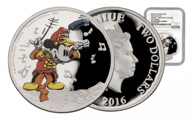 2016 Niue 1-oz Silver Mickey Band Concert NGC PF69UCAM