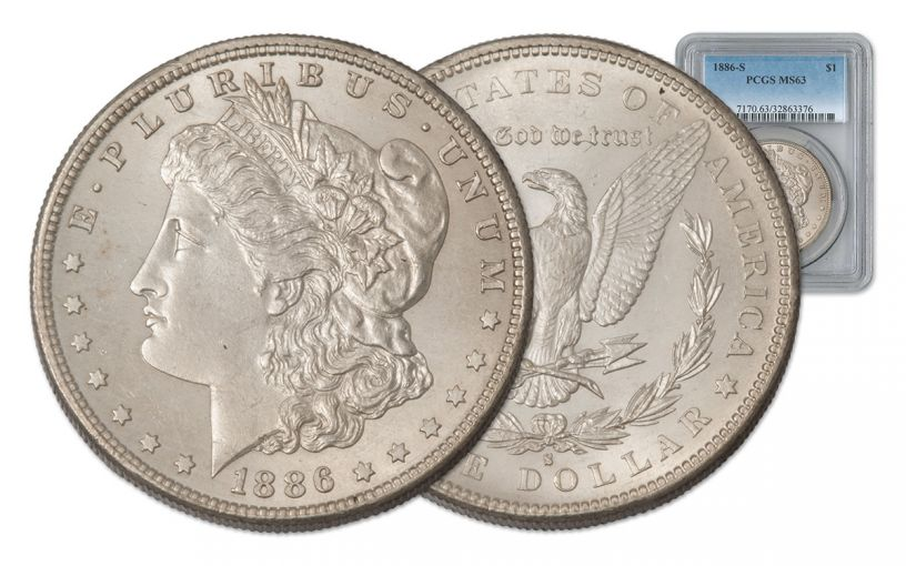 1886-S Morgan Silver Dollar PCGS MS63