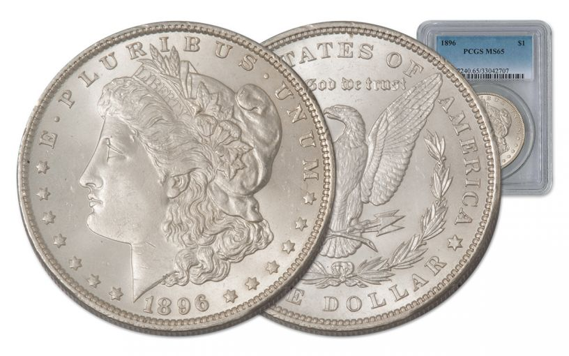 1896-P Morgan Silver Dollar PCGS MS65