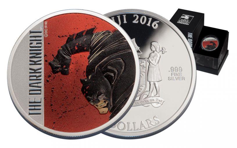 2016 Fiji 2 Dollar 2-oz Silver The Dark Knight Returns 30th Anniversary Proof
