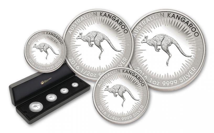 2016 Australia Silver Kangaroo 4-Pc Proof Set