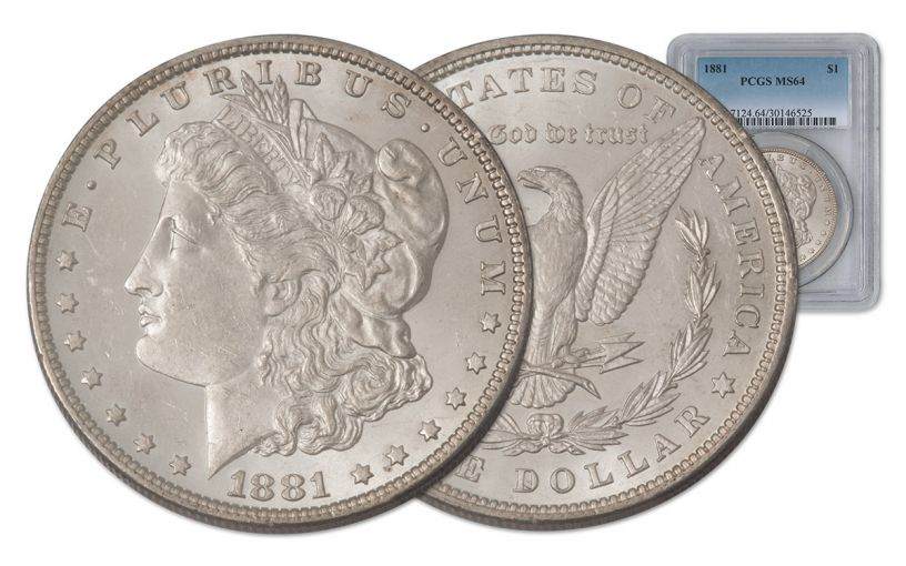 1881-P Morgan Silver Dollar PCGS MS64