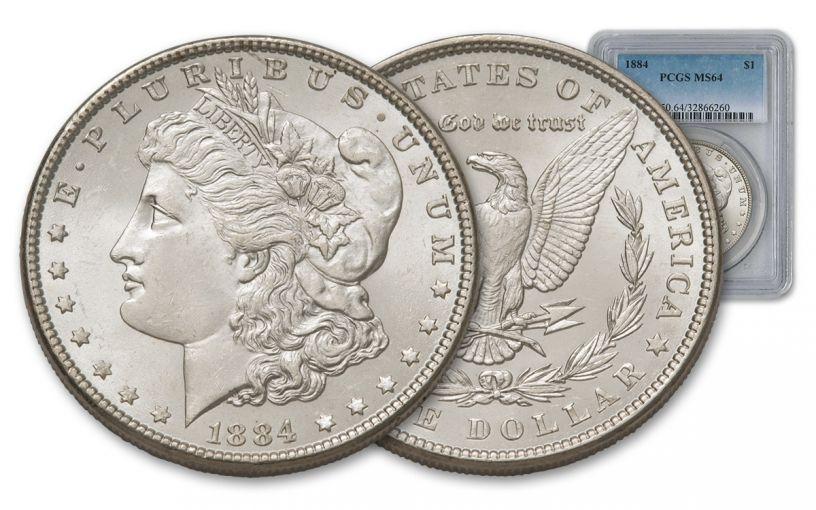 1884-P Morgan Silver Dollar PCGS MS64