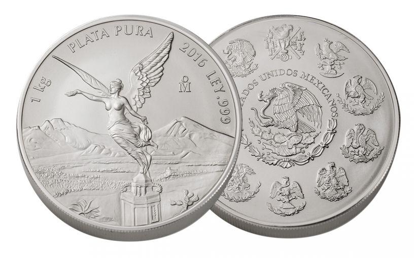 2016 Mexico 1 Kilo Silver Libertad BU