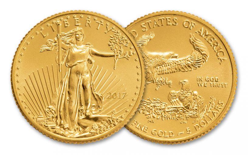 2017 5 Dollar 1/10-oz Gold Eagle BU