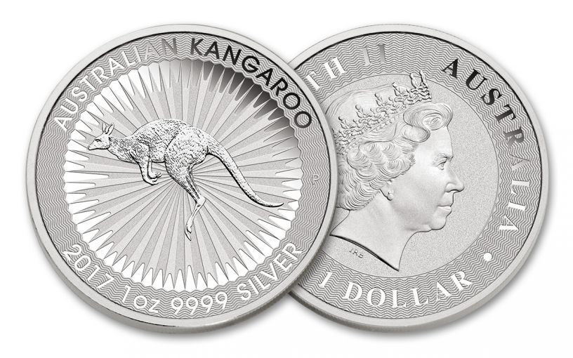 2017 Australia 1 Dollar 1-oz Silver Kangaroo BU