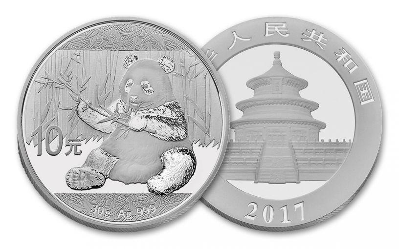 2017 China 30-Gram Silver Panda BU
