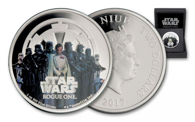 2017 Niue 2 Dollar 1-oz Silver Star Wars: Rogue One - The Empire Proof