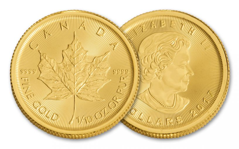 2017 Canada 5 Dollar 1/10-oz Gold Maple Leaf BU FNI