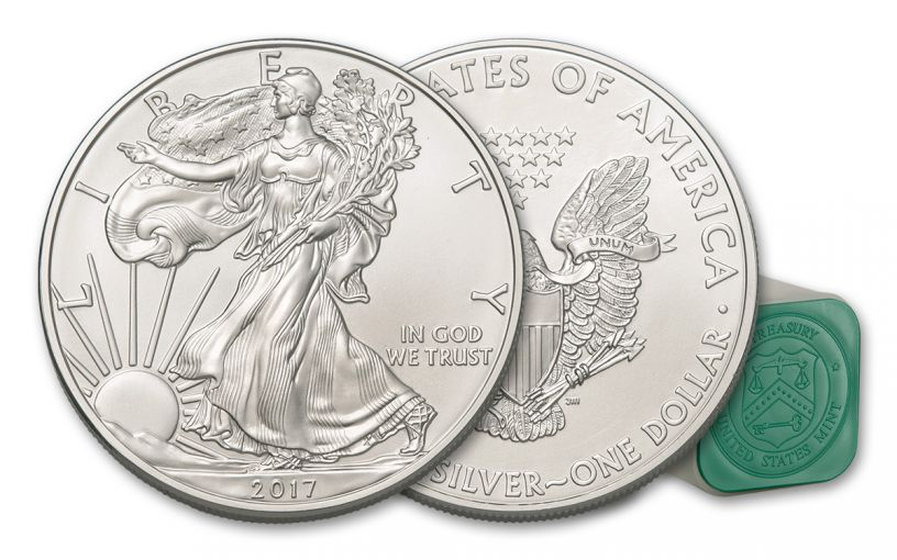 2017 1 Dollar 1-oz Silver Eagle BU 20-Coin Roll