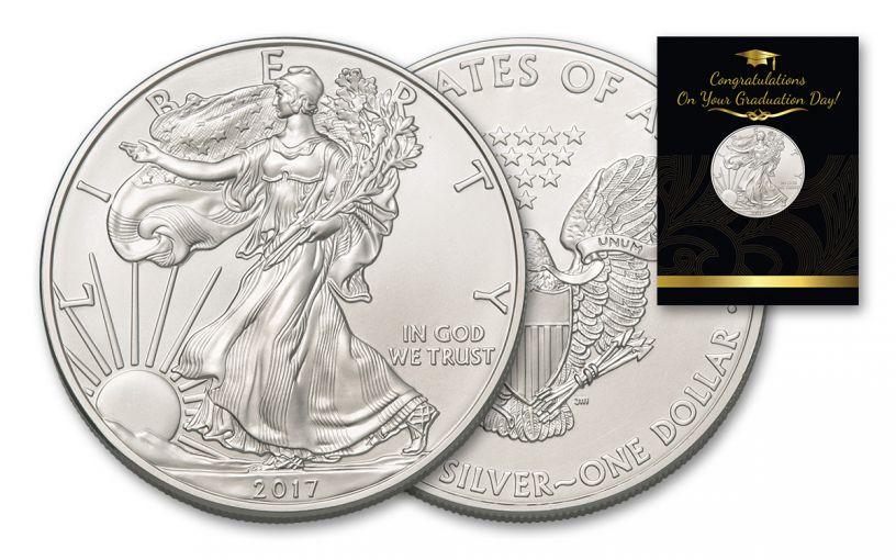 2017 1 Dollar 1-oz Silver Eagle BU Graduation Coin Pack