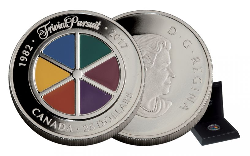 2017 Canada 25 Dollar 1-oz Silver Trivial Pursuit 35th Anniversary Proof