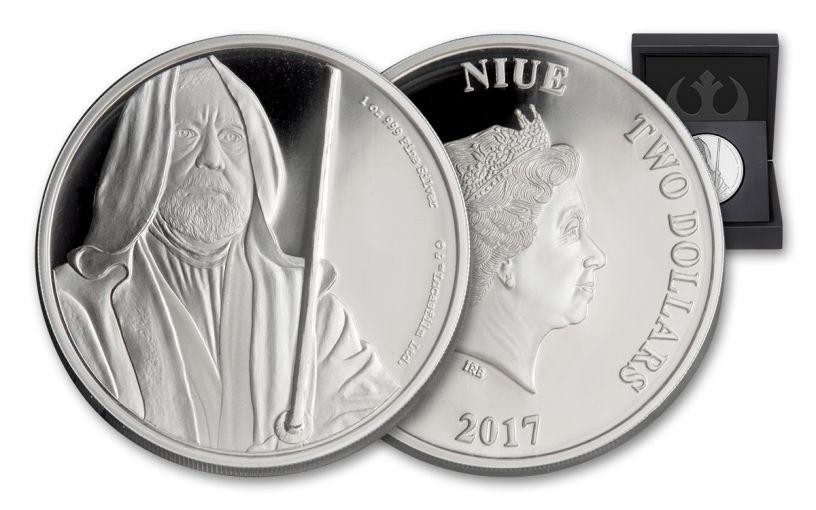 2017 Niue 2 Dollar 1-oz Silver Star Wars Obi-Wan Proof