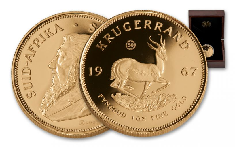 1967 South Africa 1-oz Gold Krugerrand Reissue