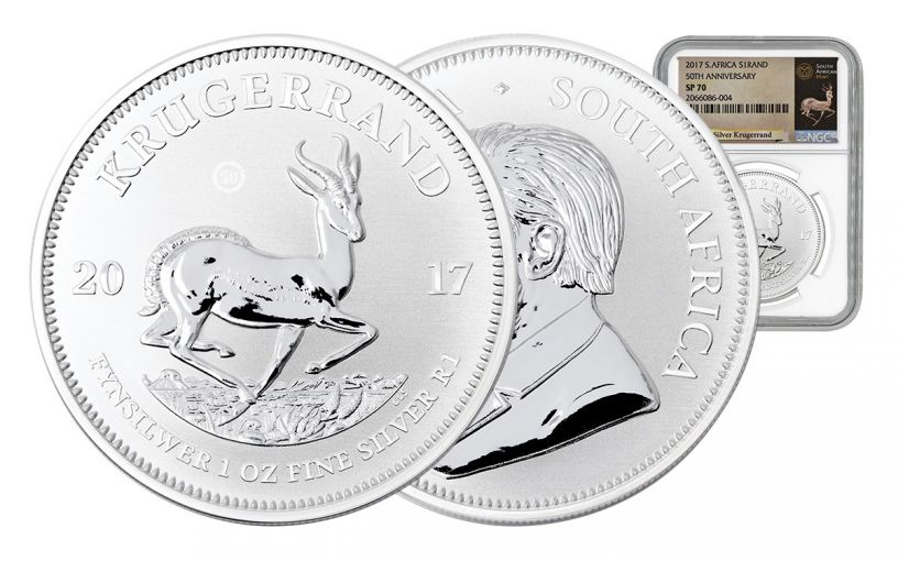 2017 South Africa Silver Krugerrand NGC SP70