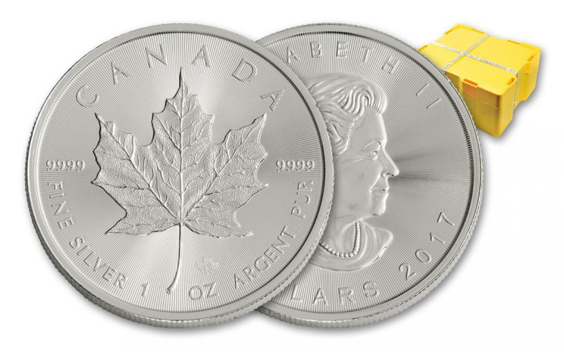 2017 Canada 5 Dollar 1-oz Silver Maple Leaf BU 500-Coin Monster Box
