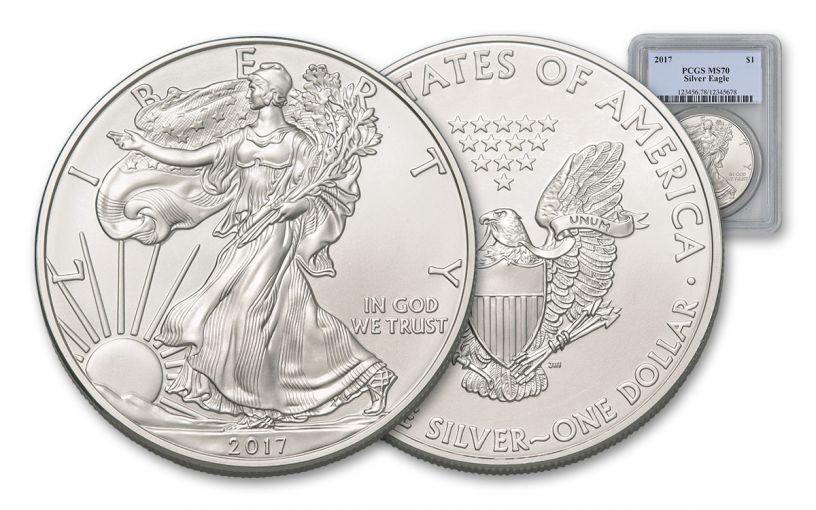 2017 $1 1-oz Silver Eagle PCGS MS70