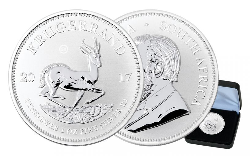 2017 South Africa 1-oz Silver Krugerrand Premium Uncirculated w/Black Box