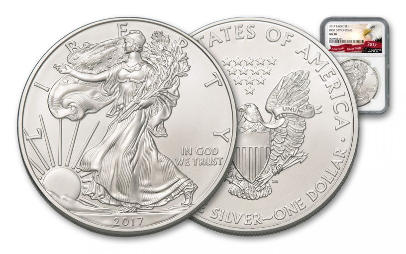 2017 1 Dollar 1-oz Silver Eagle NGC MS70 FDI